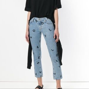 NWT Current Elliot Love Letters Straight Crop 28